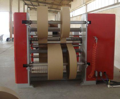 It is slitting and rewinding big paper rolls to make small width sizes.