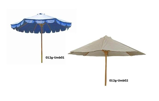 Sun umbrella - between teak and canvas