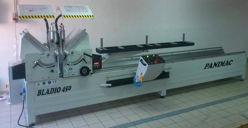 Troncatrice doppia testa automatica x taglio pvc ed alluminio