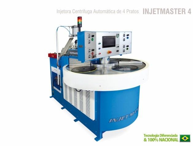 This Machine is a real revolution in Centrifugal Injection of Zamac. She have four injection stations, and all of them can be configured individually, raising it's production rate.