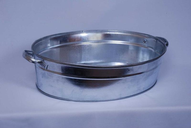 Galvanized oval basin