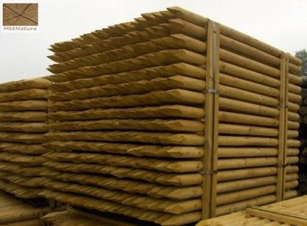 Wood Pine Poles rounded Classe 4.