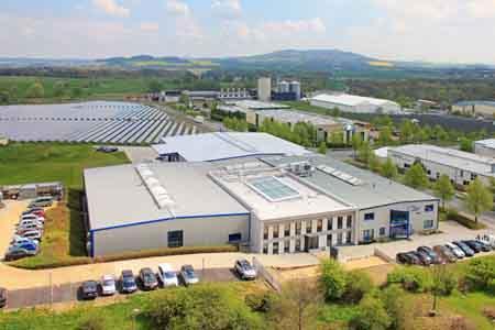 Hauptsitz der ULT AG, Umwelt-Lufttechnik in Löbau, Entwicklung und Produktion von Absaug- und Filteranlagen für Industrie, Handwerk, Forschung und Medizin