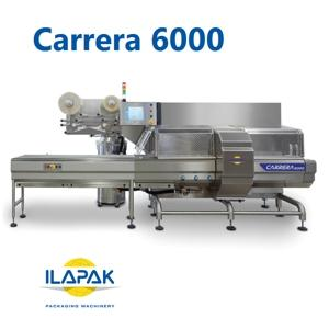 The new Carrera 6000 is a fully modular design flowrapper that offers complete IP65 protection, enabling full wash down capability, even of the sealing elements.