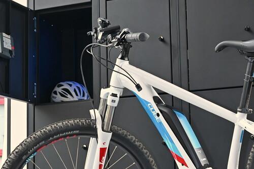 Fahrradbox für Helm und Zubehör