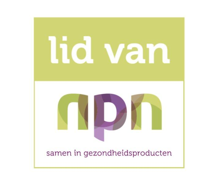Proud member of NPN (Nature and Health Products Netherlands)
