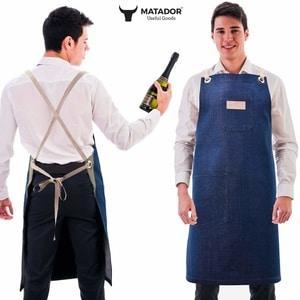Waiter Apron, Denim, Cotton Apron for Man