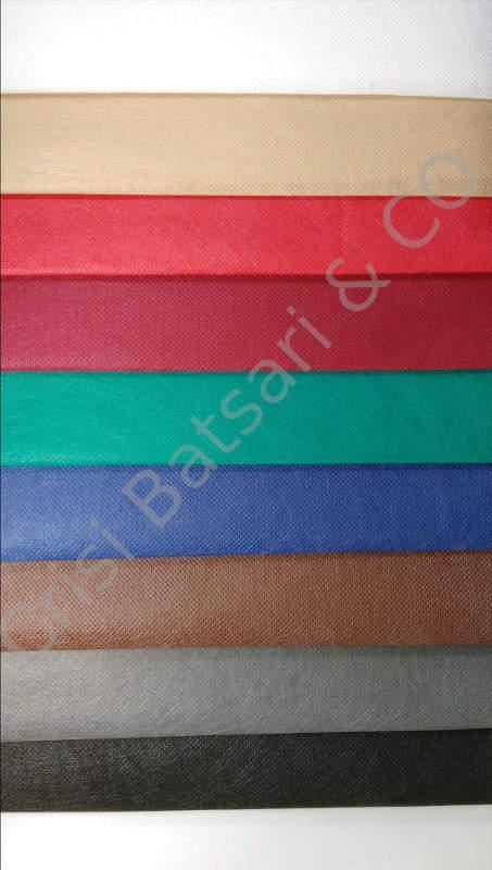 Μη υφαντό ύφασμα, χρησιμοποιείται για σε ταπετσαρίες αυτοκινήτων, μοκέτες, αξεσουάρ μόδας, κλπ.