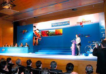 Impresión digital para Banco Banesto. Presentación equipo ciclista.