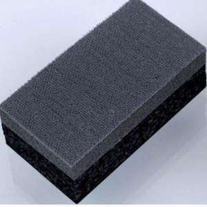 Handschleifblock rechteckig, doppelseitig nutzbar, Klettsystem