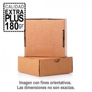 Caja de cartón automontables EXTRA 180 GR. para envíos. Medida interior 235 x 200 x 50 mm. Canal simple 3 mm. de color marrón. Caja automontable, no es necesaria cinta adhesiva para su montaje.