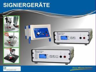 Signiergeräte, Signierschablonen und Zubehör für die elektrolytische Beschriftung Ihrer Produkte