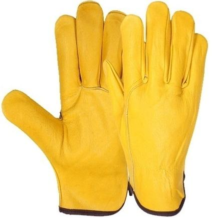Yellow Premium Quality Cowhide Grain Wing Thumb 
