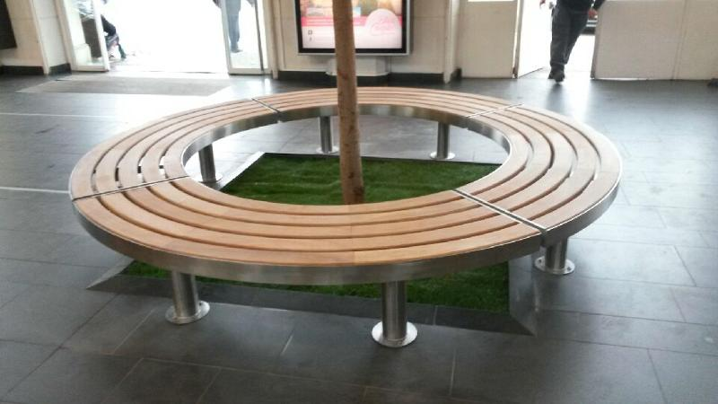 public bench curved for outdoor indoor