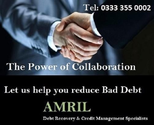 Amril Debt Recovery & Credit Management Specialists are ISO 9001:2008 compliant and Data Protection Registered.  We work on all business debts from around the world on a No win, No Fee basis.