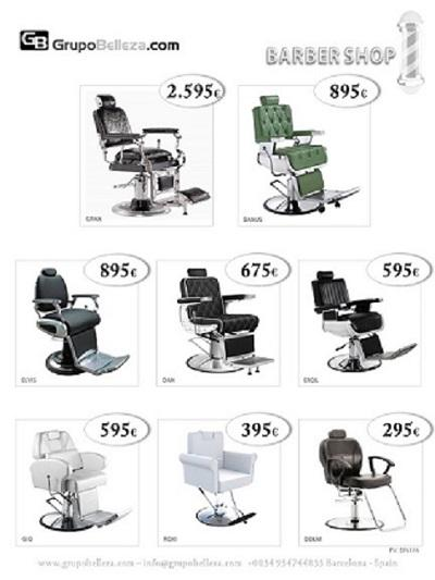 Several high quality barber armchair models