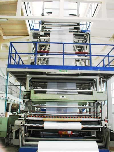 Extrusion line for polyethylene