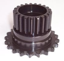 SPUR GEAR AND SPROCKET COMBINATION