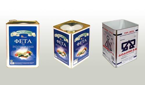 The company manufactures tin cans for the food packaging industry for olive oil and olives, honey, pickles and several chemical products from a minimum can size of 2lt up to a maximum of 25 lt.
