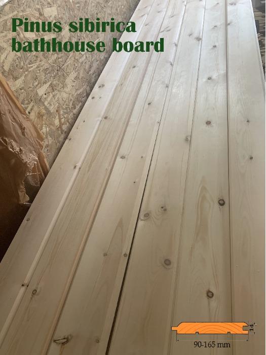 bathhouse board, sauna, Pinus sibirica