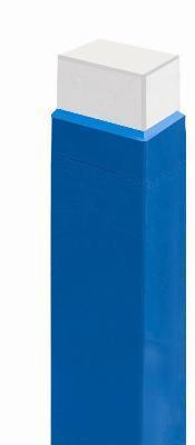 Protezione antitrauma certificata a norma UNI EN 913 e ignifuga CL1, realizzata su misura. Disponibile in vari spessori. Blu o rossa