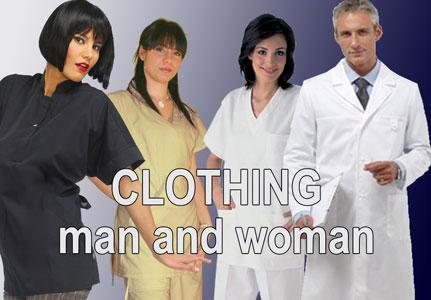Professional Clothing for man and woman. Work uniforms for the medical and aesthetic