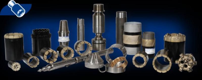 Carottiers simples - Carottiers doubles - Carottiers à câble - Carottiers pendulaires de barrage - Tubages à l'avancement - Tiges de forage - Tubages - Outils de repêchage - Raccords - Clés -