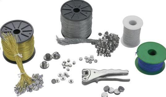 Scellé de sécurité en plomb. Fabricant historique du plomb de sécurité, bobine de fil perlé, pince à plomber. Destiné au plombage des compteurs, extincteurs.