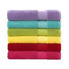 Towel - 100% Cotton plain dyed with fancy border