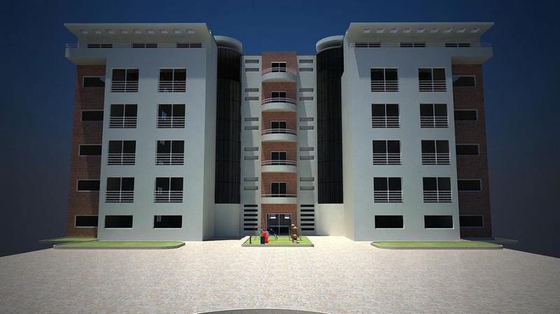 Résidence  clôturée  et gardée , avec une variété d'appartement de type :F2-F3-F4-F6 et  duplex