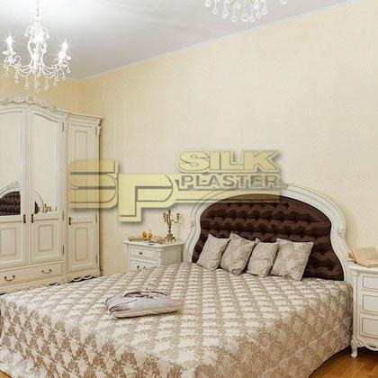 Bedroom with SILK-PLASTER wall coverings