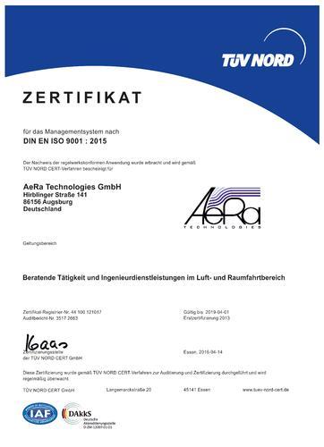 DIN EN ISO 9001 : 2015 zertifiziert