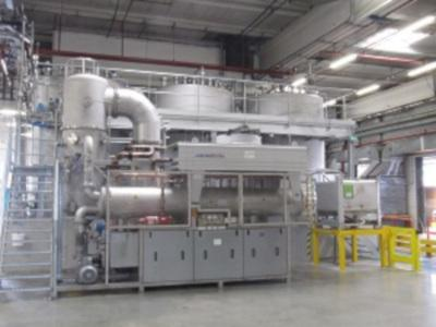 Low energy consumption 0,165 kW/l distillate Recovery distillation of BG explosiv protection and silicone free