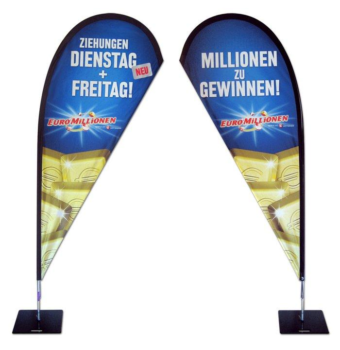 Beachfahnen, Beachflags und Werbefahnen von Inter Fahnen