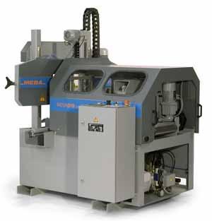 90° Automat in kompakter Bauweise Unkomplizierte und moderne NC-Steuerung Kraftvolle Nachschubzange Stufenlos frequenzgeregelter Sägebandantrieb Geschlossene Bauform: mehr Sicherheit und Schutz