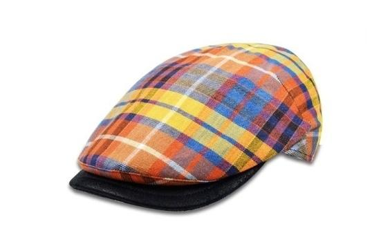 Colored beret man