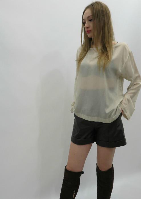 Natural silk blouse