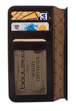 Leather case with window
