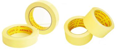 Le double face est composé de papier siliconisé et colle durable et invisible en caoutchouc synthétique ( HOT MELT) . Il est de bonne résistance thermique et de forte adhésion sur supports lisses ou r