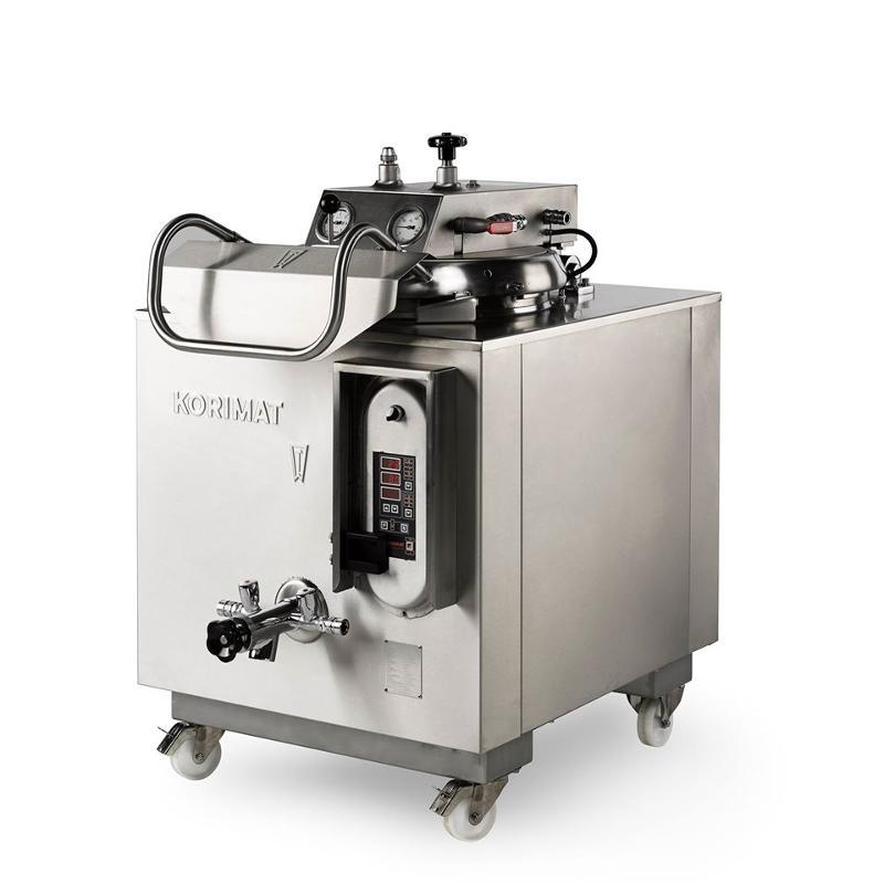 Stérilisateur autoclave Korimat KA160, capacité 120 litres ! tout inox, tout équipé, tout automatique, caréné, monté sur roulette, programmable, enregistreur de données numérique.