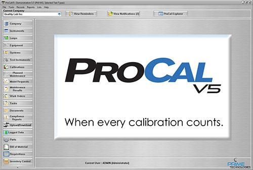 ProCalV5 software outpaces the competition with feature rich functionality and options. ProCal was the first commercial 21 CFR Part 11 compliant calibration management solution.