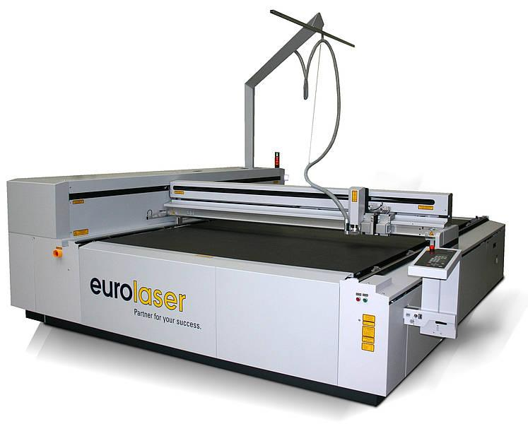 "The CO2 laser machine XL-3200 with a processing area of 2,270 x 3,200 mm (89.4"" x 126"") is the largest model of the XL series. Cutting of acrylic, wood, textiles, foils and more."