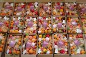 Cajas de Navidad de 5k, 10k y 15k de naranjas, mandarinas o mixtas , con motivos navideños y felicitación.