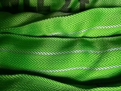 Textile Hebemittel mit dem einzigartigen Profix Duplix Doppelmantelgewebe und Tonnage Silberstreifen, welcher auch bei verschmutzten Schlingen noch ersichtlich bleibt.