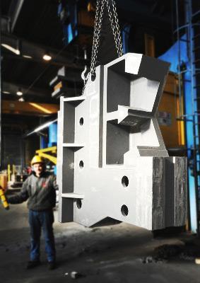 fabbricazione di Corpo lunetta in EN-GJS400-15 kg. 6.500