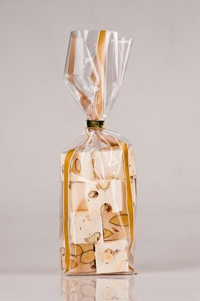 Sachet Cristal Bandelettes Or ; Sachet dentelle Or
