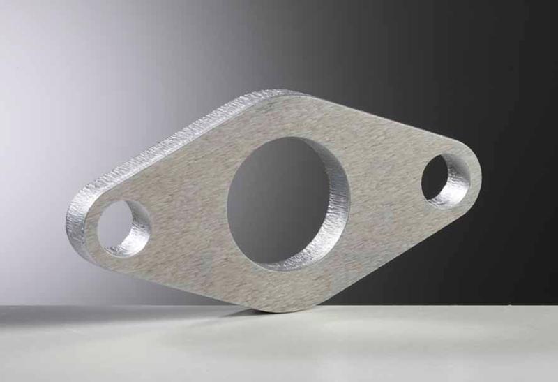 Pièce en aluminium découpée au laser (épaisseur 10 mm).