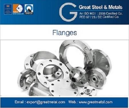 Great Steel & Metals is recognized as the Manufacturer,& exporter of Stainless steel,Duplex,Super Duplex,Nickel Alloy,Carbon steel flanges of all types    Size: -1/2″ NB (15mm) TO 48″NB (1200mm).