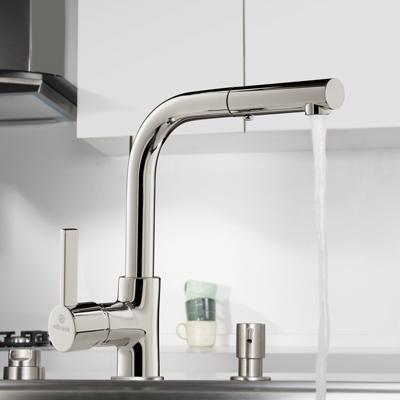 """kelvin"" Kichen mixer-faucet by vitruvit"