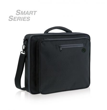 Convertible laptop bag with functional design, you can carry it as a backpack, shoulder bag or briefcase.